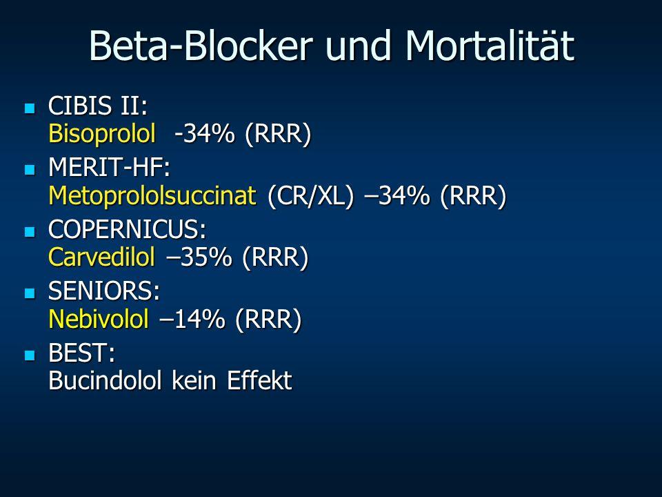 Beta-Blocker und Mortalität
