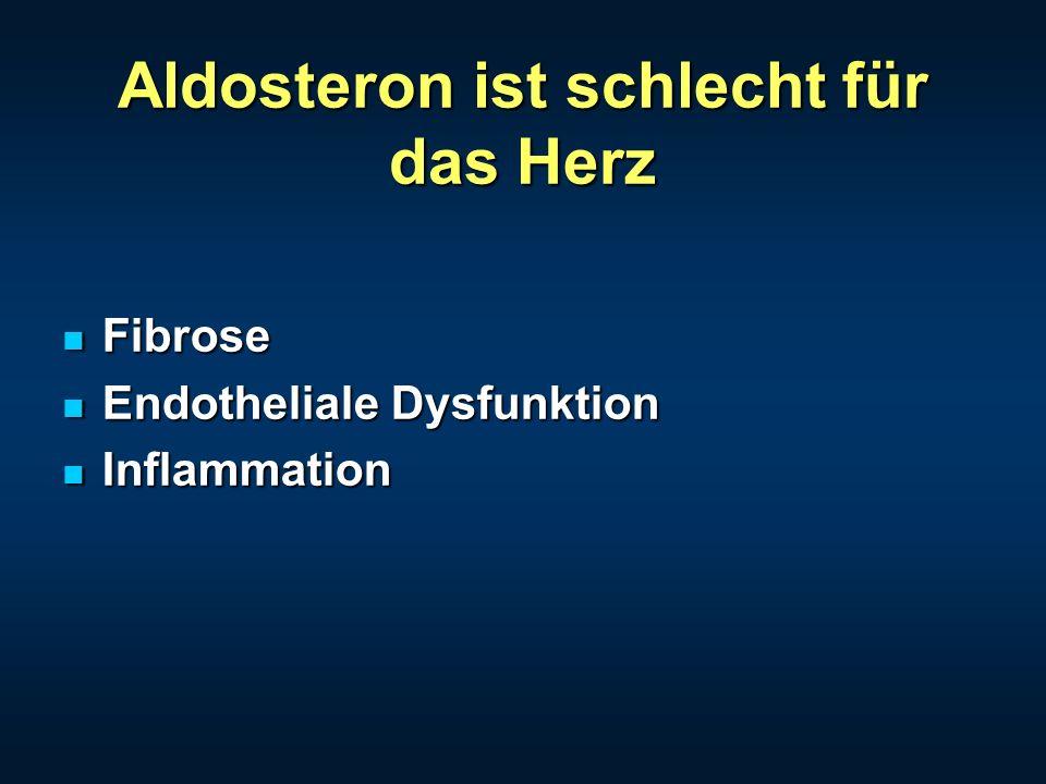 Aldosteron ist schlecht für das Herz