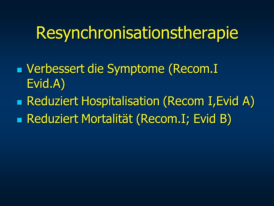 Resynchronisationstherapie