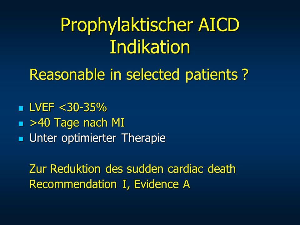 Prophylaktischer AICD Indikation