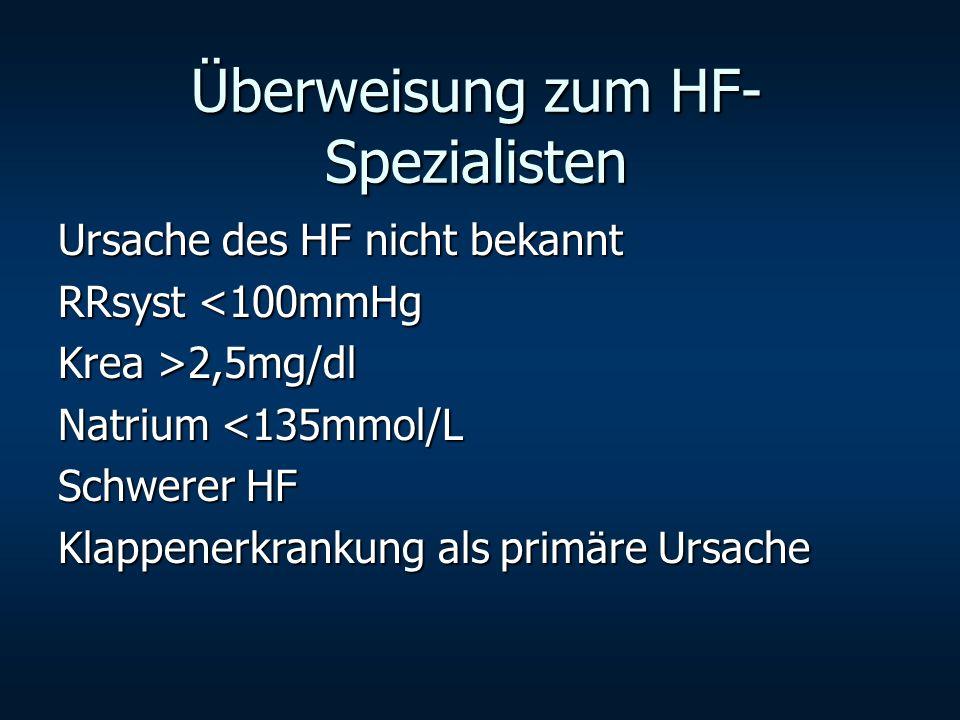 Überweisung zum HF-Spezialisten