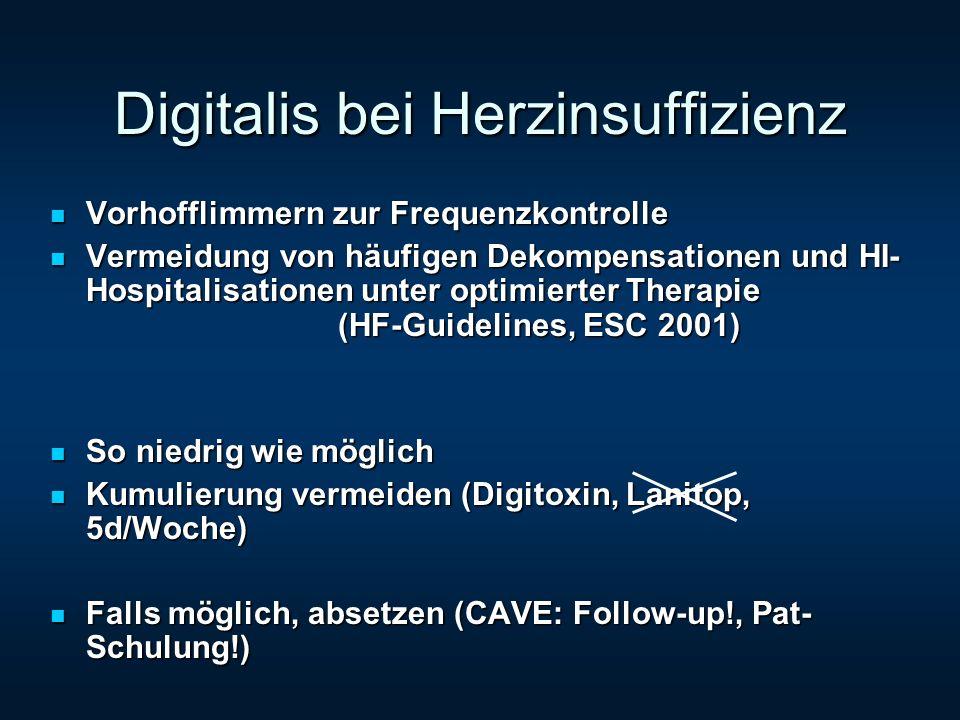 Digitalis bei Herzinsuffizienz