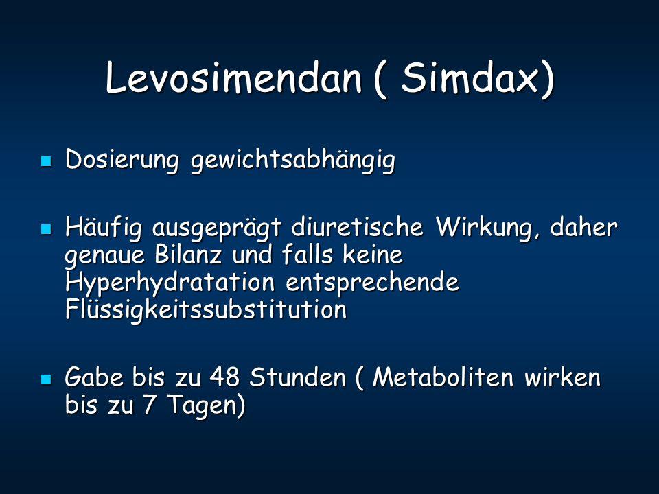 Levosimendan ( Simdax)