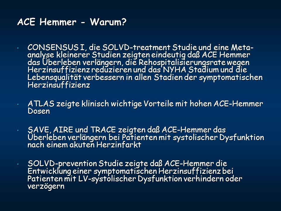 ACE Hemmer - Warum