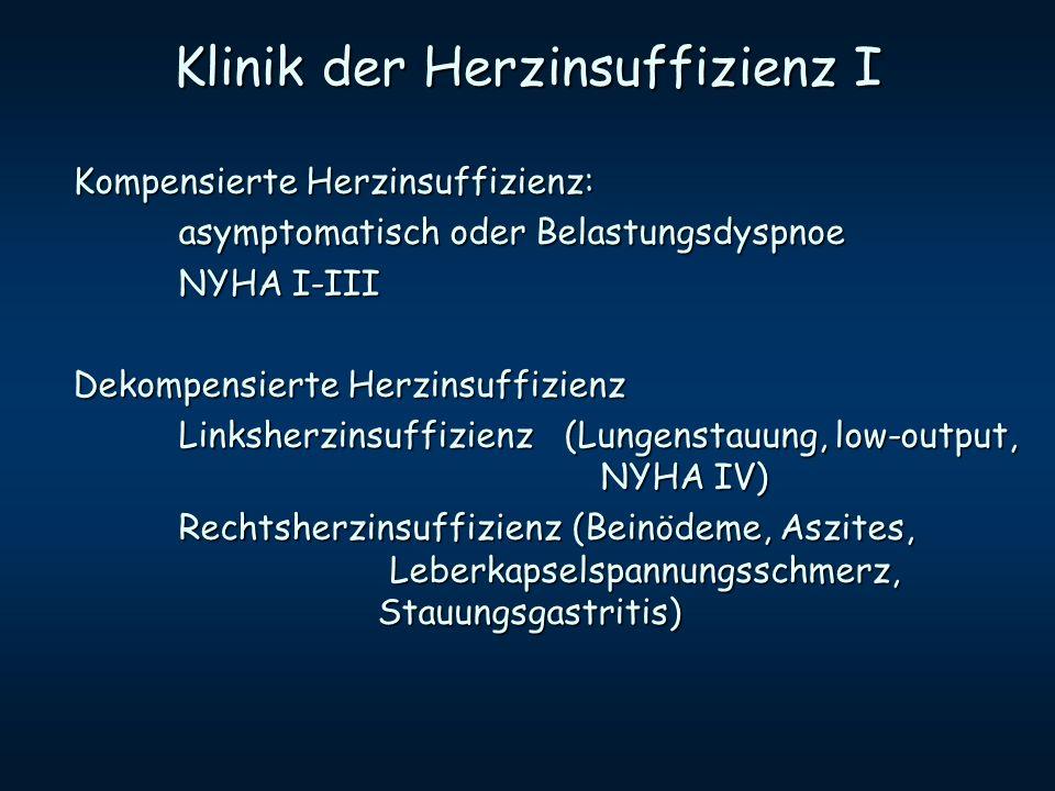 Klinik der Herzinsuffizienz I