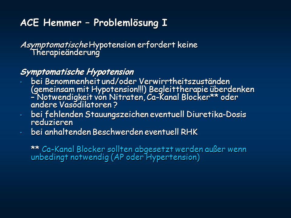 ACE Hemmer – Problemlösung I