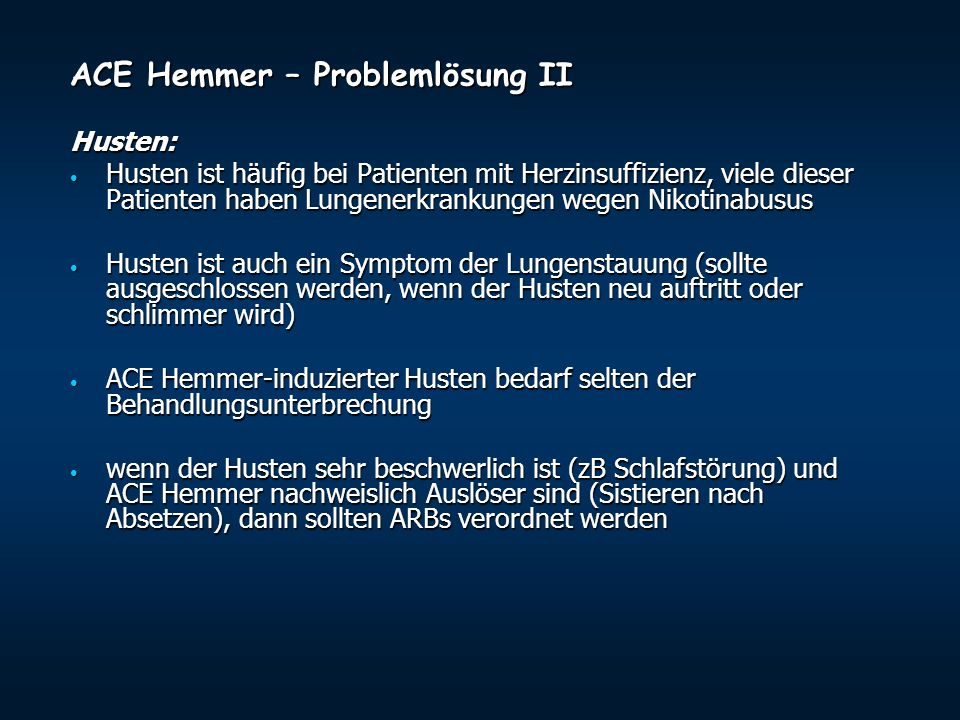 ACE Hemmer – Problemlösung II