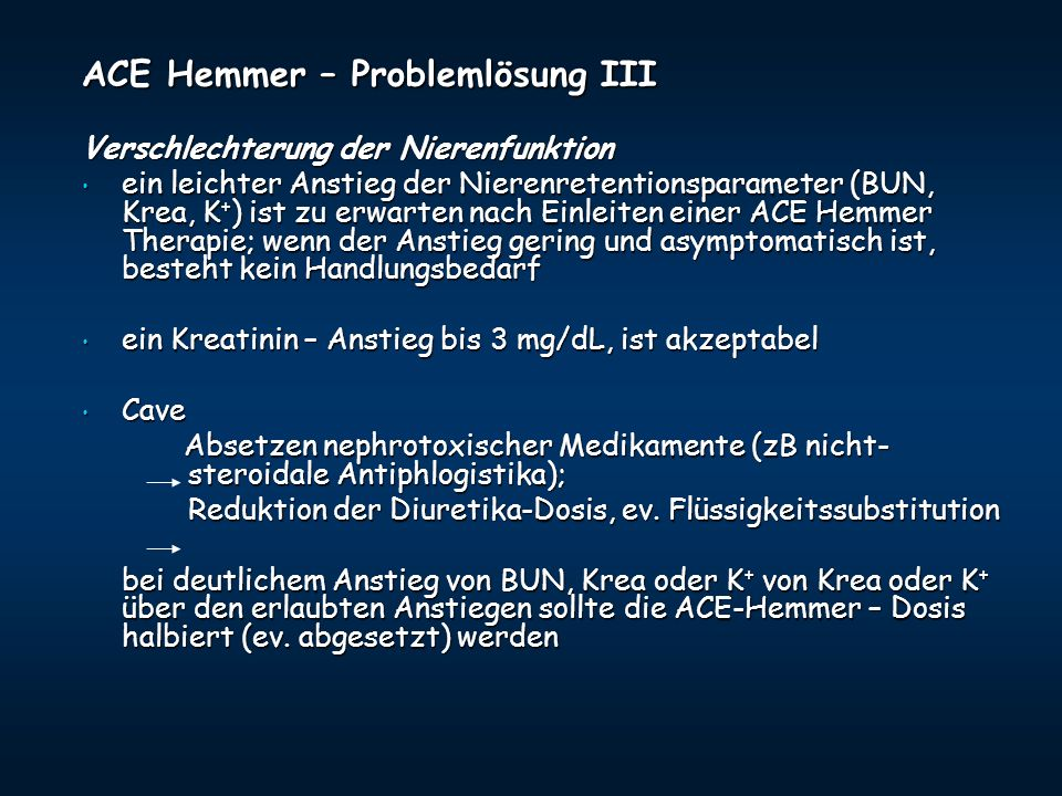 ACE Hemmer – Problemlösung III