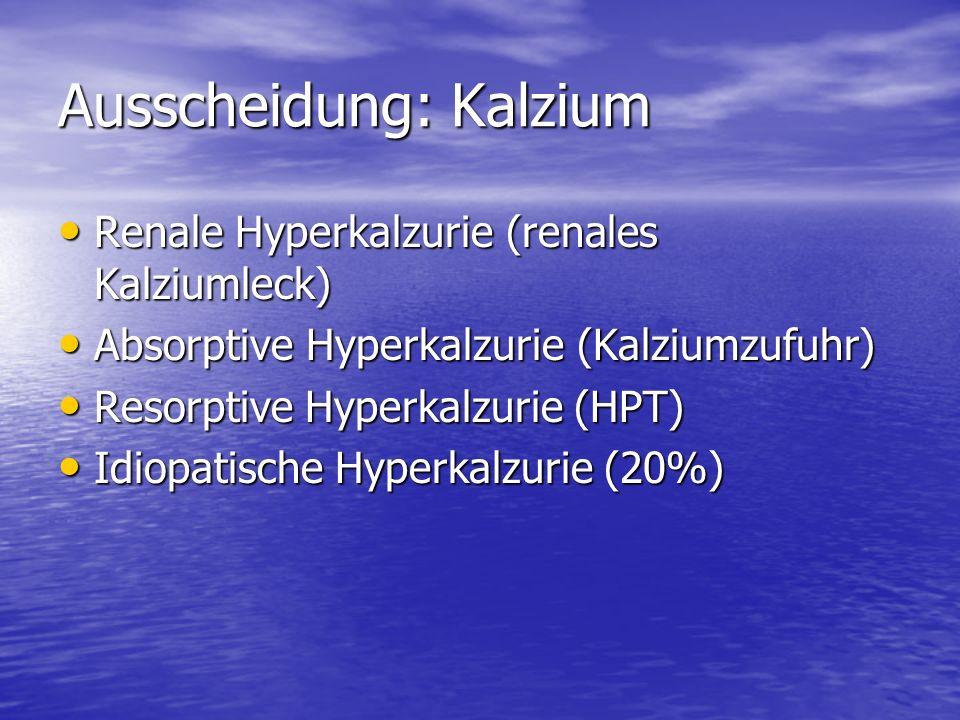 Ausscheidung: Kalzium