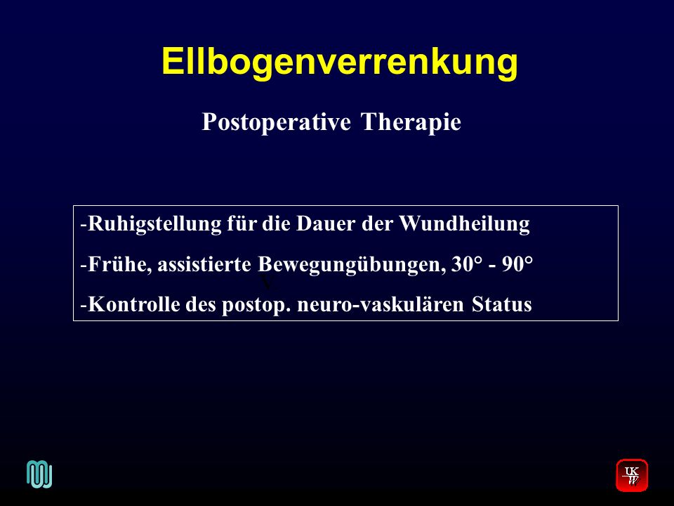Postoperative Therapie