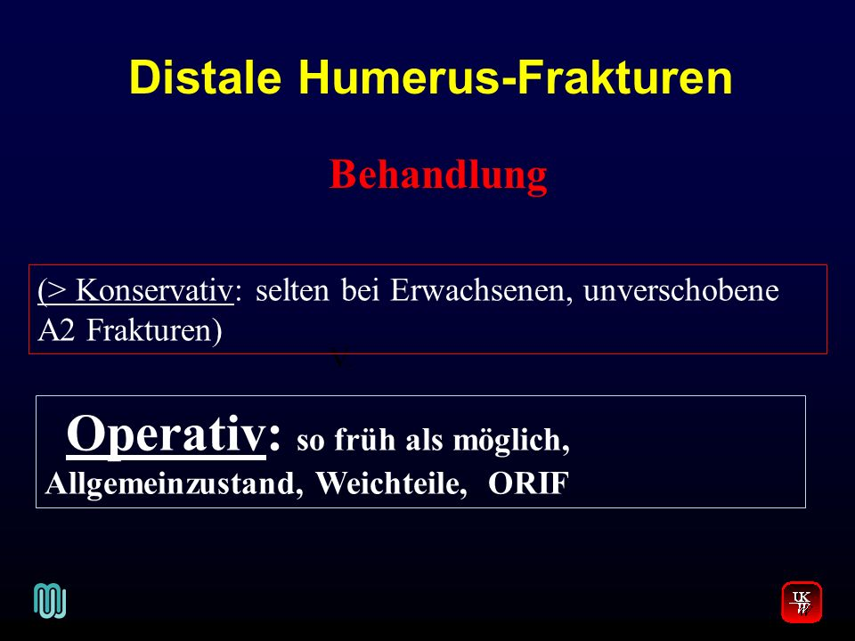 Distale Humerus-Frakturen