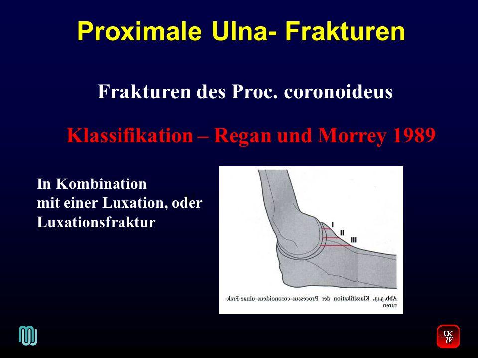 Proximale Ulna- Frakturen