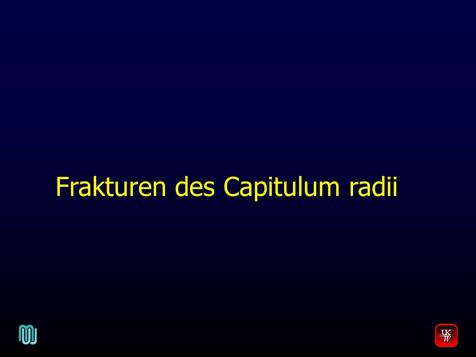 Frakturen des Capitulum radii