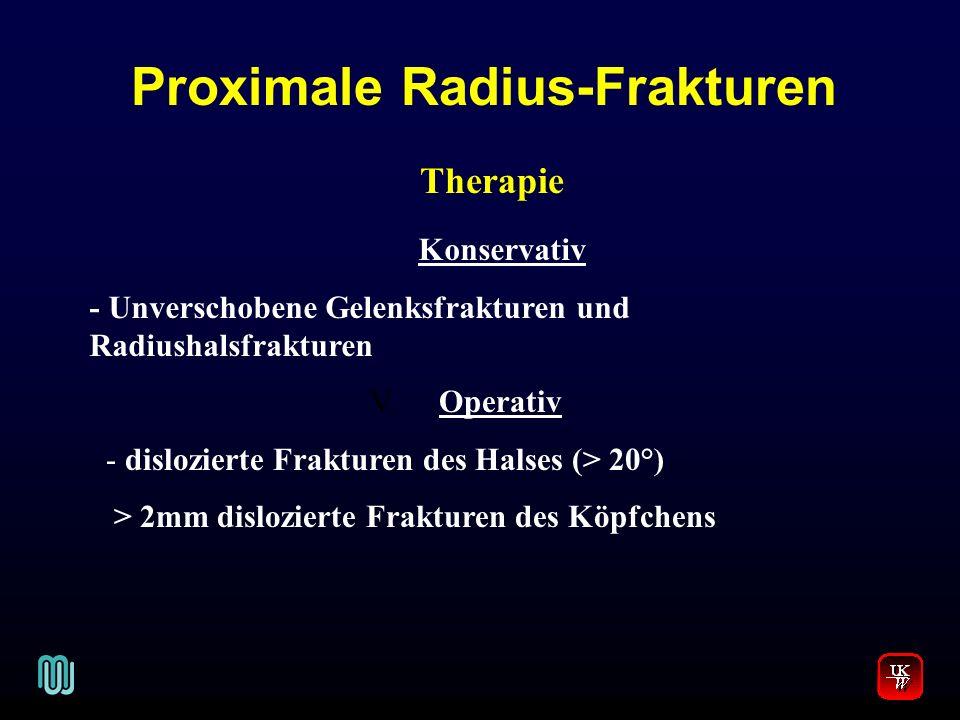 Proximale Radius-Frakturen