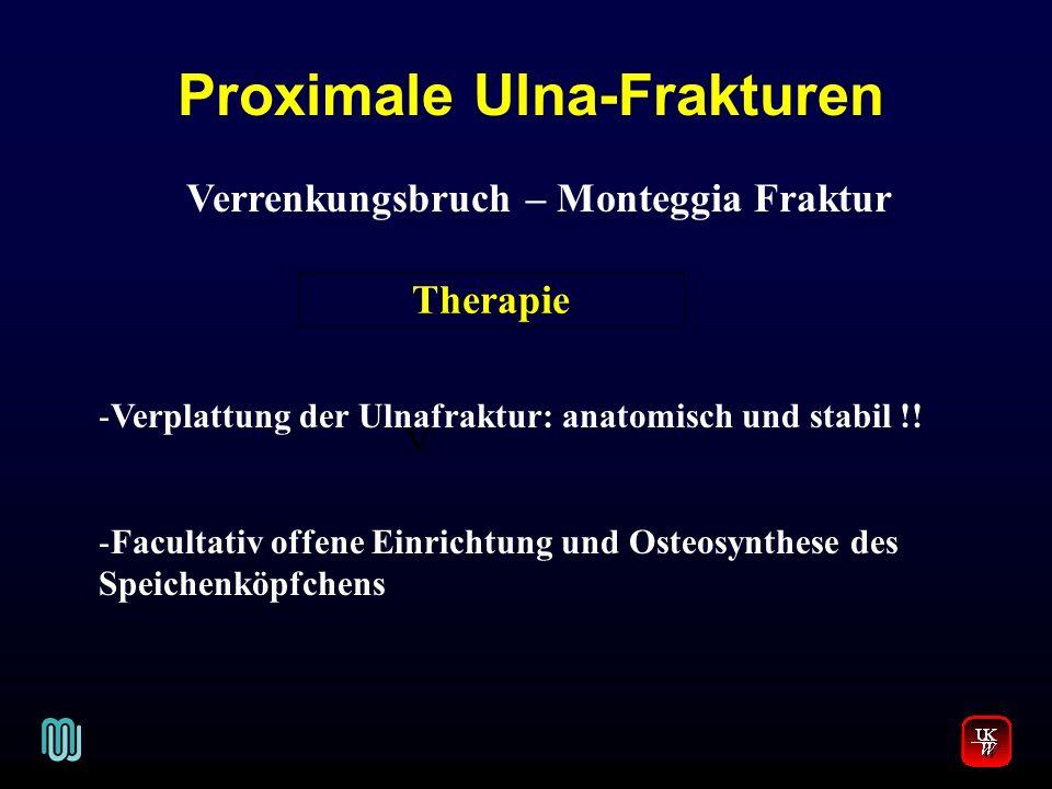 Proximale Ulna-Frakturen Verrenkungsbruch – Monteggia Fraktur