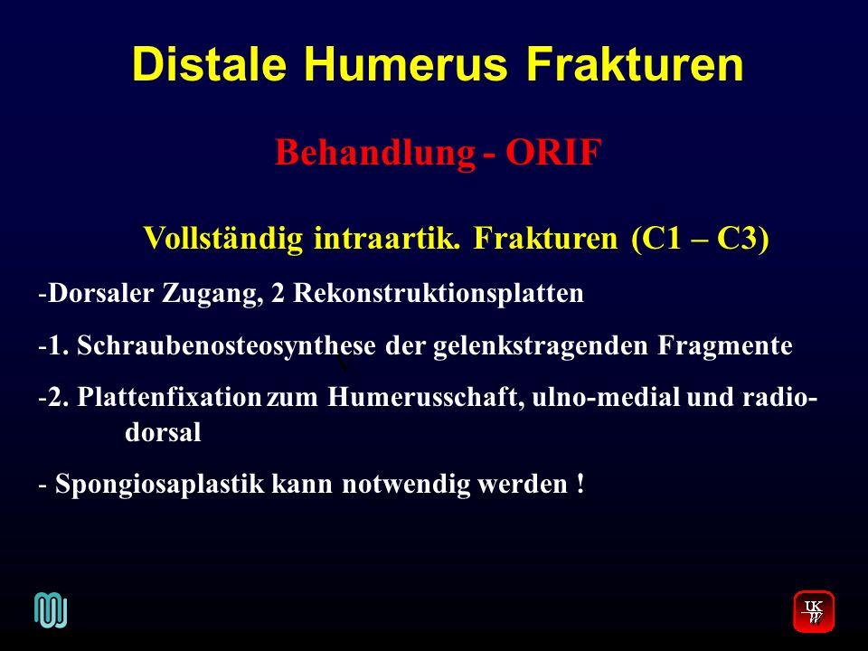 Distale Humerus Frakturen Vollständig intraartik. Frakturen (C1 – C3)