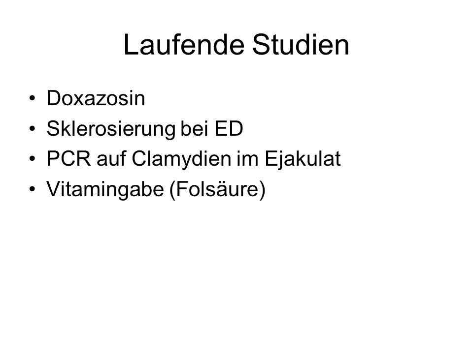 Laufende Studien Doxazosin Sklerosierung bei ED