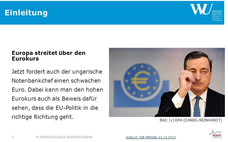 Einleitung Europa streitet über den Eurokurs