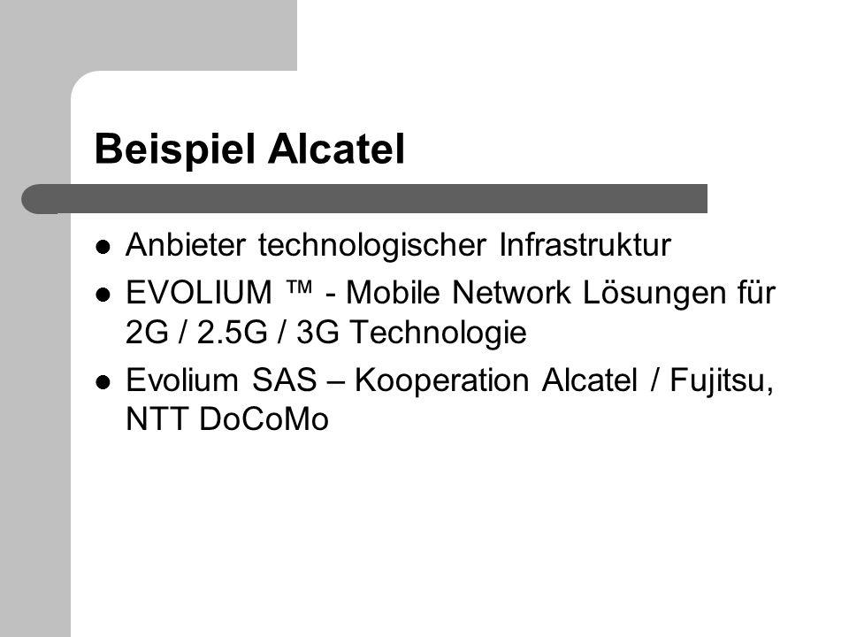 Beispiel Alcatel Anbieter technologischer Infrastruktur