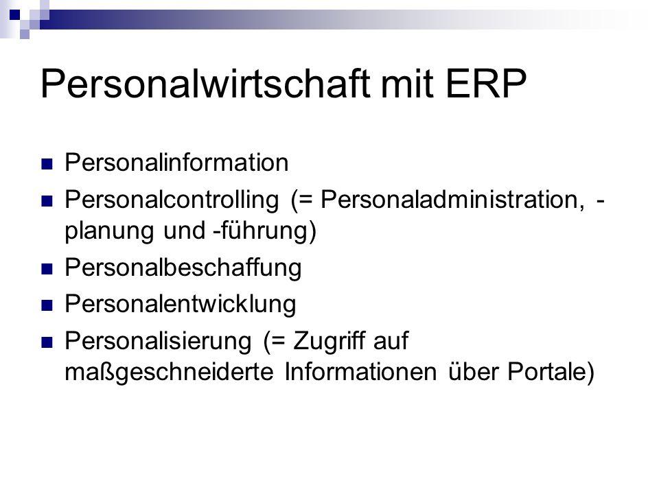 Personalwirtschaft mit ERP
