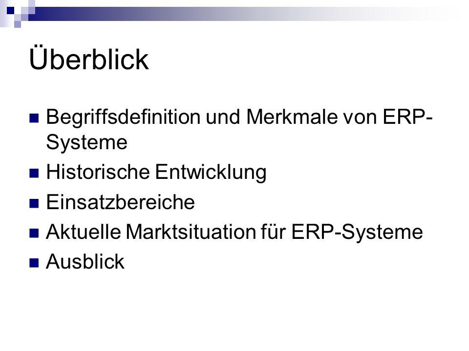 Überblick Begriffsdefinition und Merkmale von ERP-Systeme