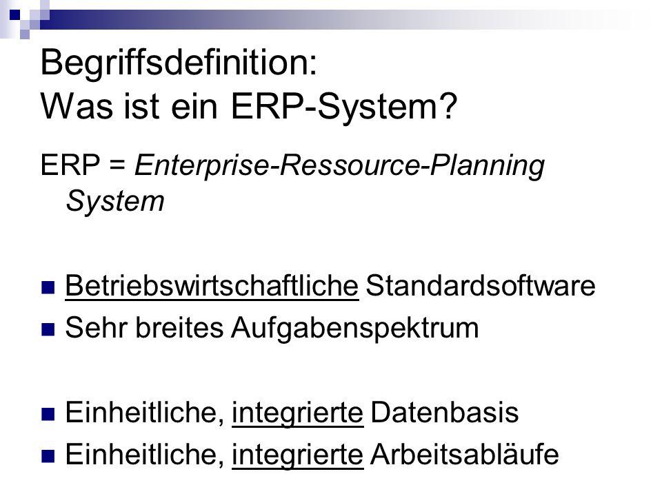 Begriffsdefinition: Was ist ein ERP-System