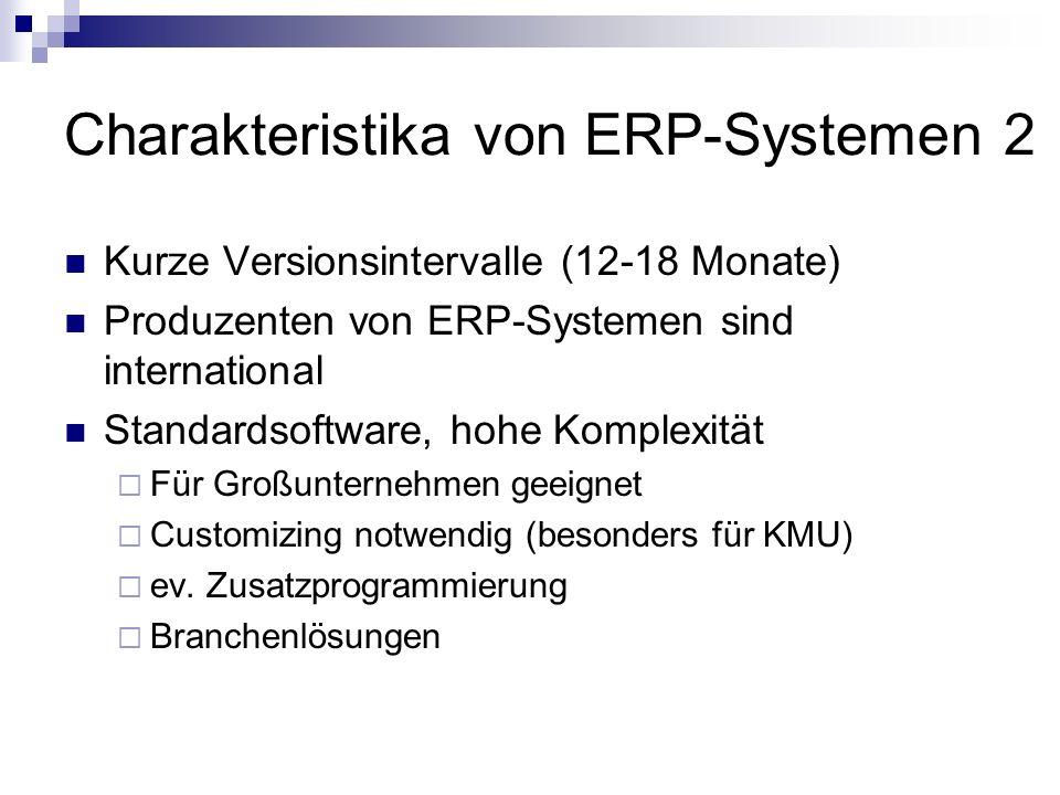 Charakteristika von ERP-Systemen 2