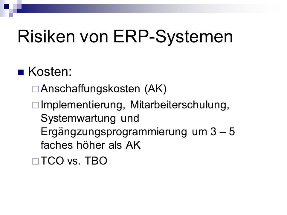 Risiken von ERP-Systemen
