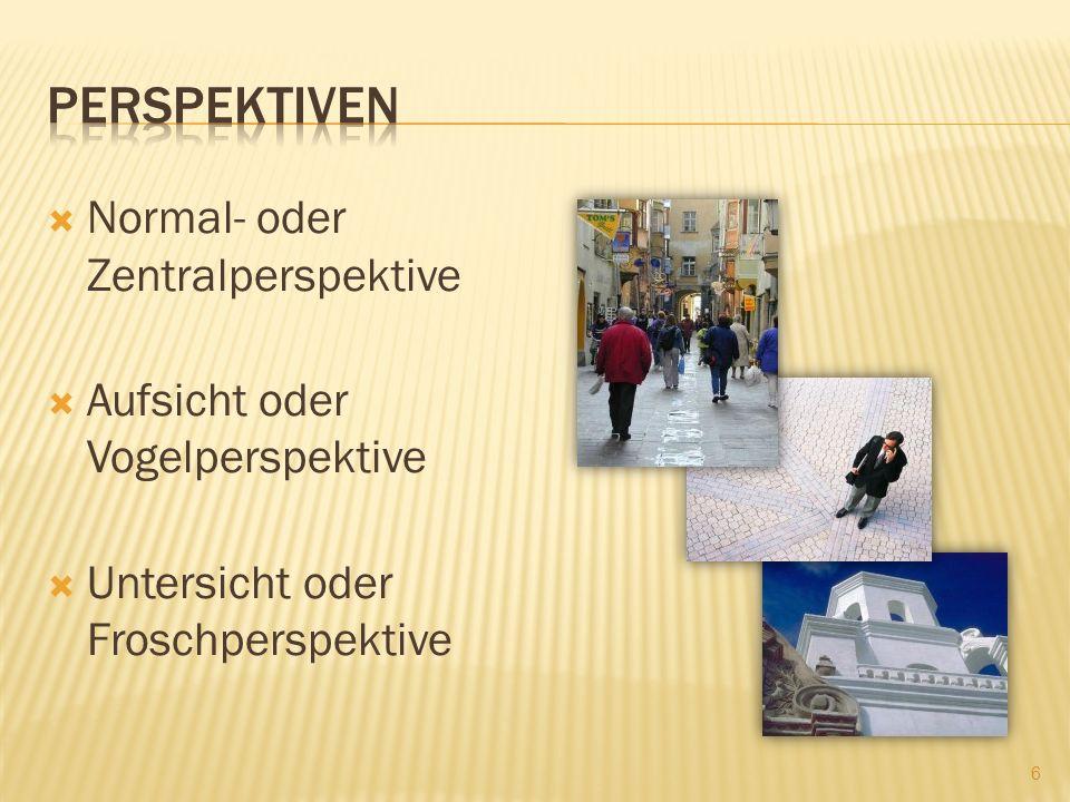 perspektiven Normal- oder Zentralperspektive