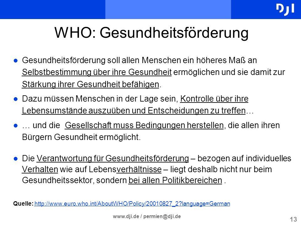 WHO: Gesundheitsförderung