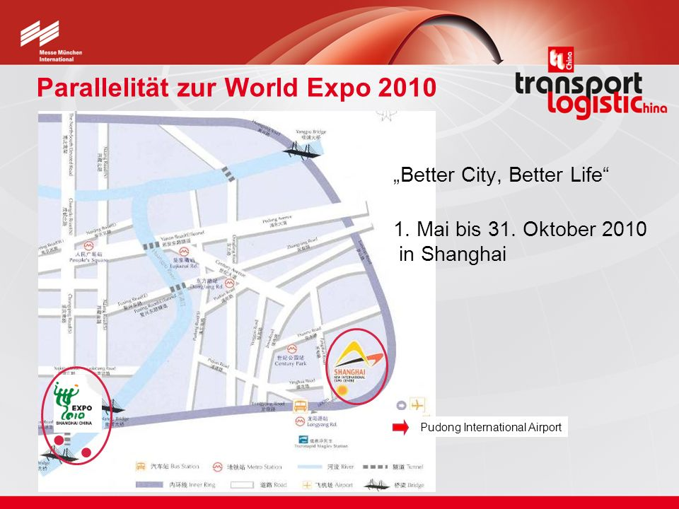Hallenplan transport logistic China und Air Cargo China 2010