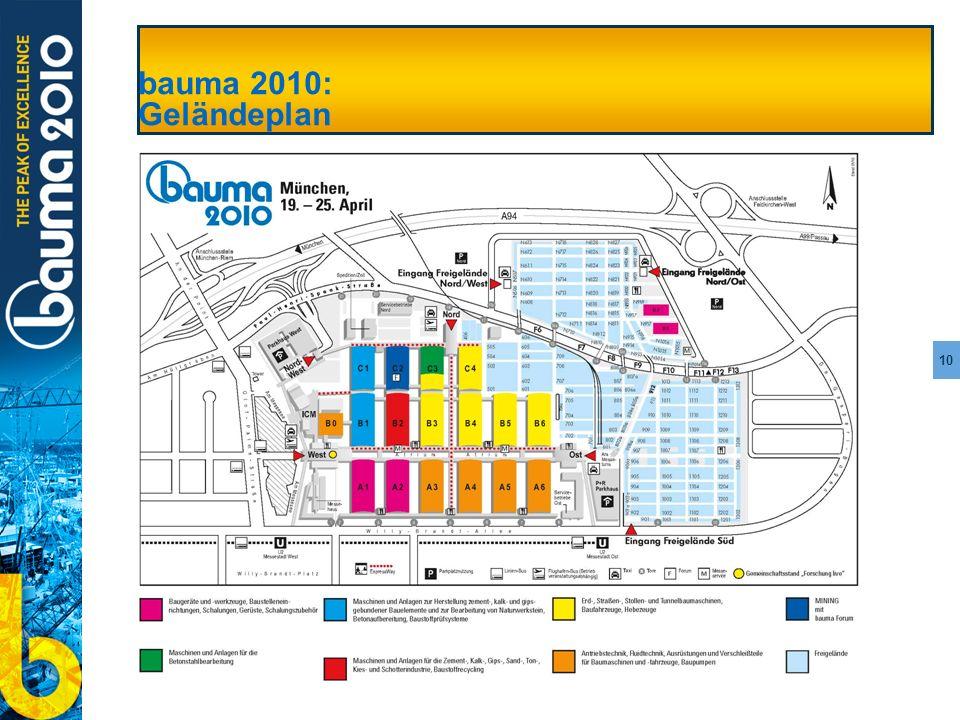 bauma 2010: Geländeplan bauma 2010: Geländeplan