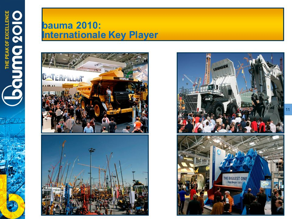 bauma 2010: Internationale Key Player