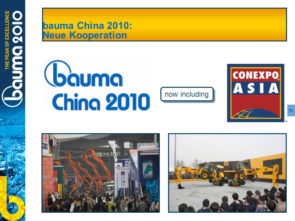 bauma China 2010: Neue Kooperation
