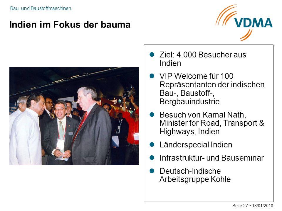 Indien im Fokus der bauma
