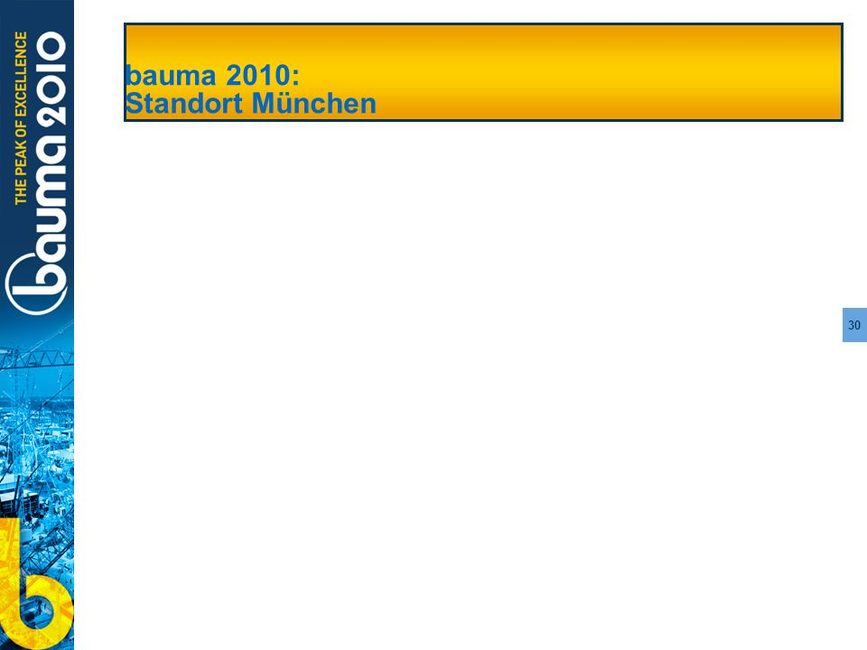 bauma 2010: Standort München