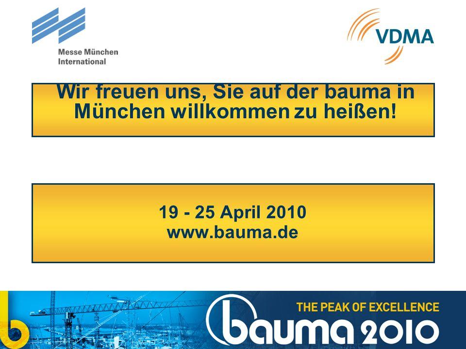 Wir freuen uns, Sie auf der bauma in München willkommen zu heißen!
