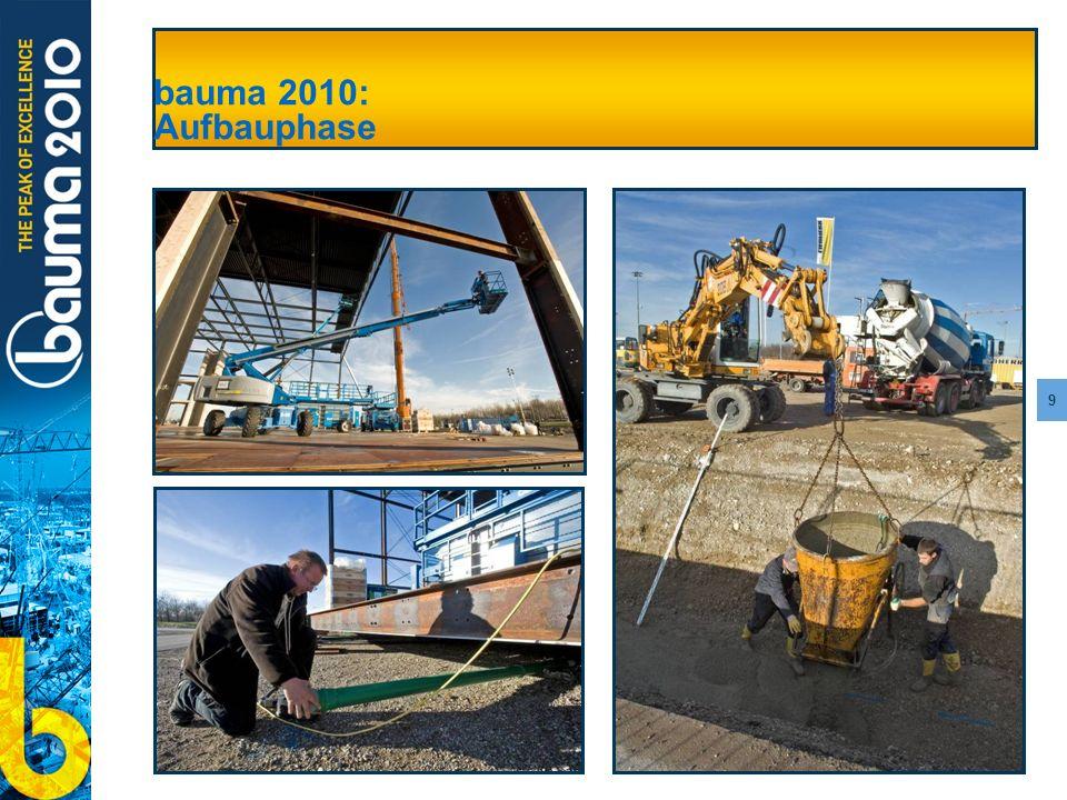 bauma 2010: Aufbauphase bauma 2010: Aufbauphase