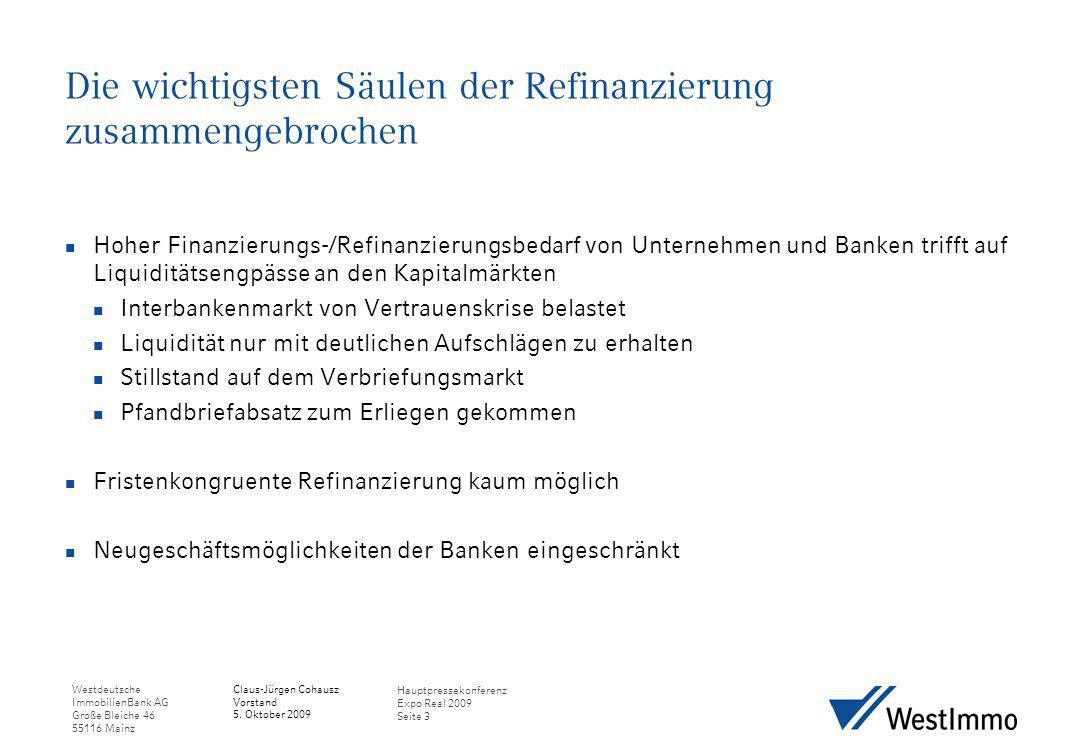 Die wichtigsten Säulen der Refinanzierung zusammengebrochen
