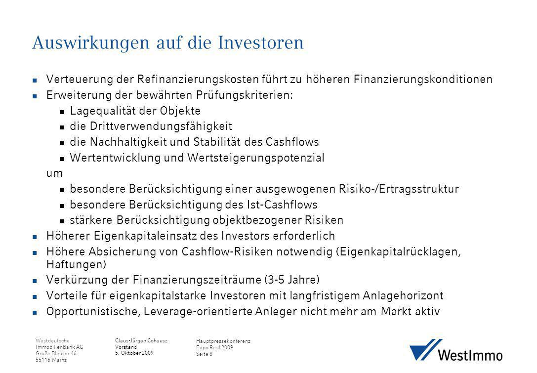 Auswirkungen auf die Investoren