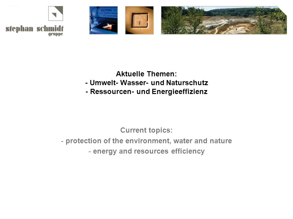 protection of the environment, water and nature