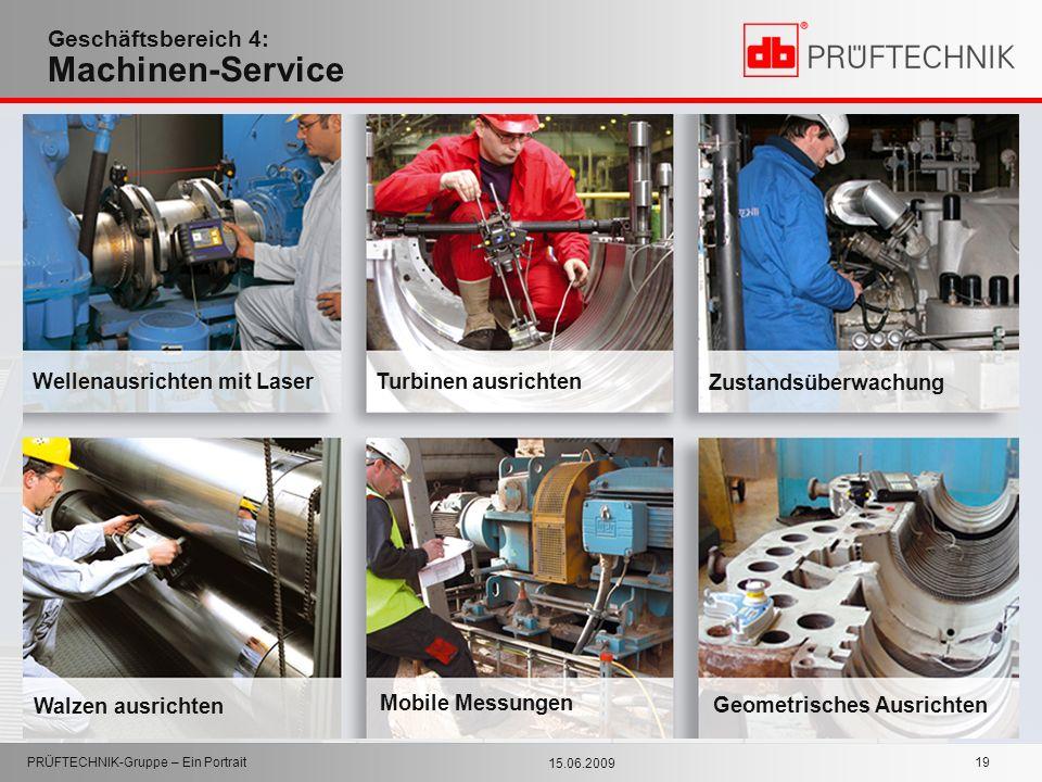 Geschäftsbereich 4: Machinen-Service