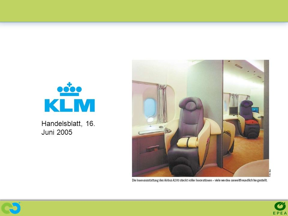 KLM - Compostable Airplane Seat Prototype