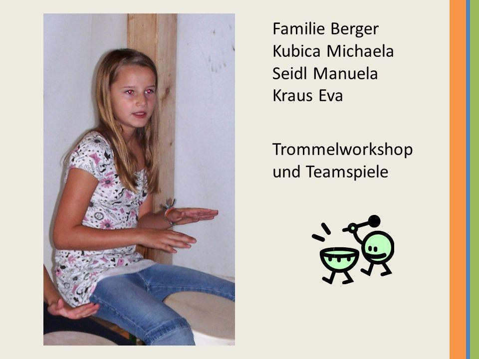 Familie Berger Kubica Michaela Seidl Manuela Kraus Eva