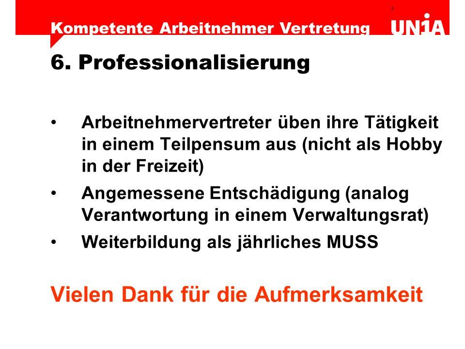 6. Professionalisierung