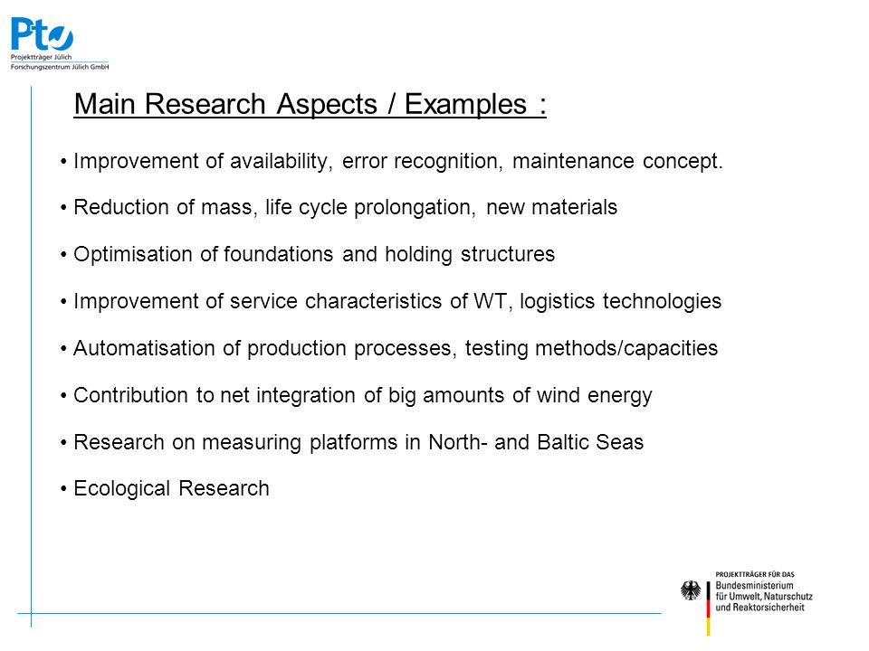 Main Research Aspects / Examples :