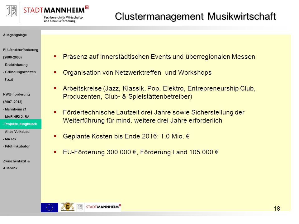 Clustermanagement Musikwirtschaft