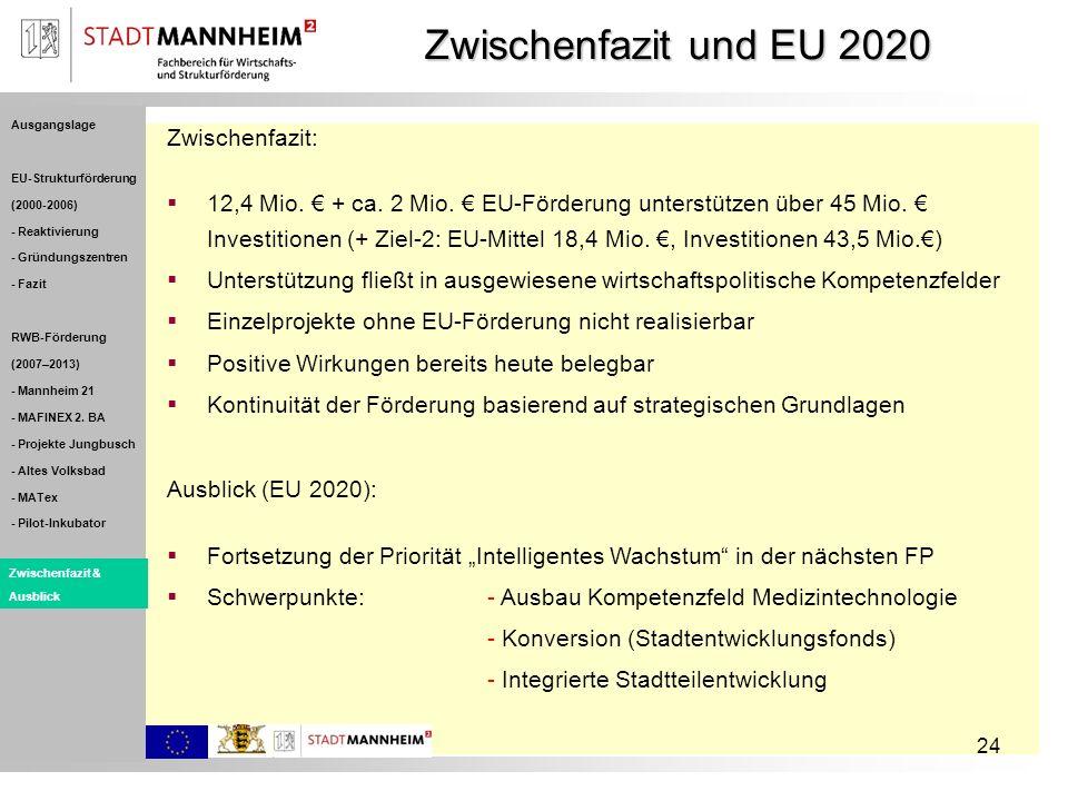 Zwischenfazit und EU 2020 Zwischenfazit: