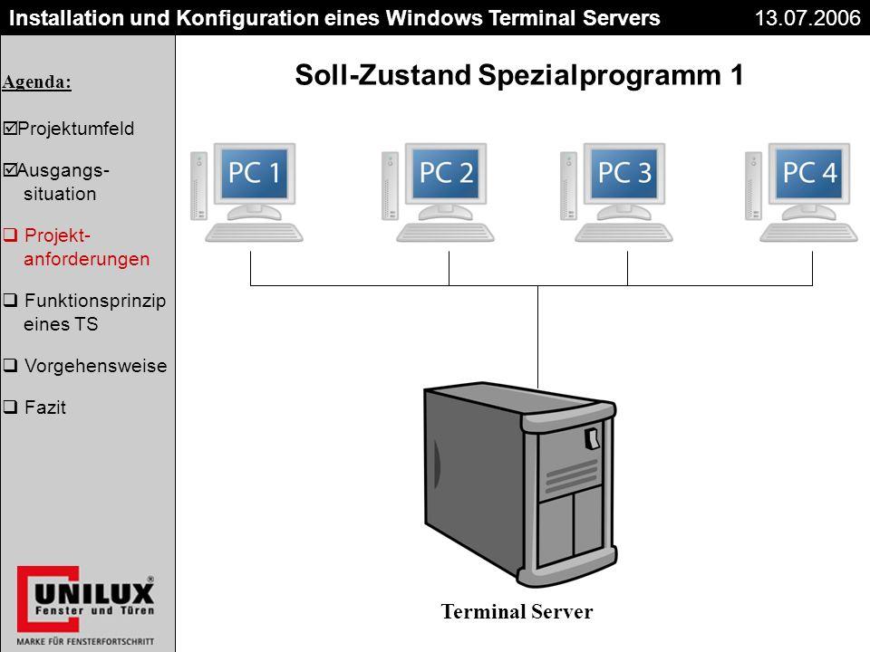 Soll-Zustand Spezialprogramm 1