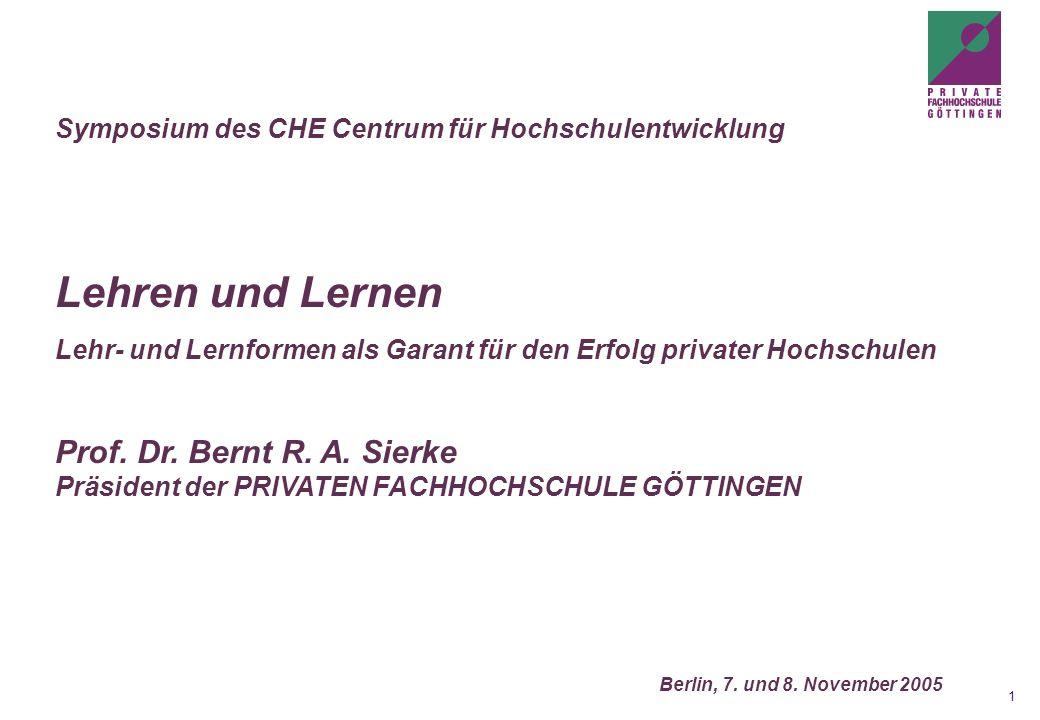 Symposium des CHE Centrum für Hochschulentwicklung